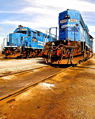 Csx Railroad Print by Frozen in Time Fine Art Photography