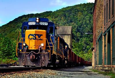 Landscape Photograph - Csx  Train by Lj Lambert