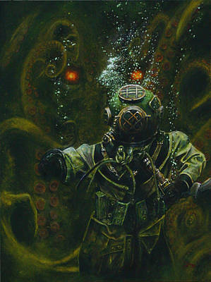 Cthulhu Painting - Cthulhu Rising by Dan Henk