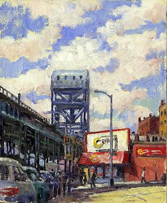Urban Subway Painting - Ctown And The Broadway Bridge The Bronx by Thor Wickstrom