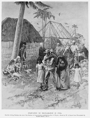 Cuba Internment Camps Print by Granger