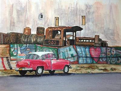 Cuban Cityscape Print by Susan Roberts