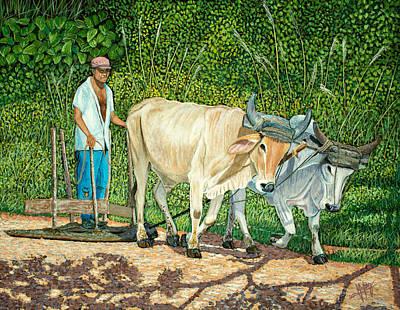 Cuban Countryman Print by Manuel Lopez