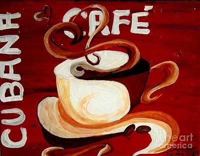 Cubana Cafe Print by Jayne Kerr