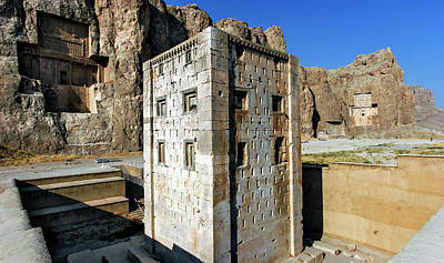 Tomb Photograph - Cube Of Zoroaster by Babak Tafreshi
