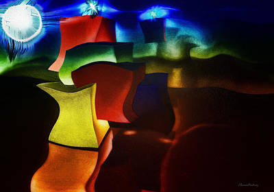 Cubes Fantasy Print by Ramon Martinez