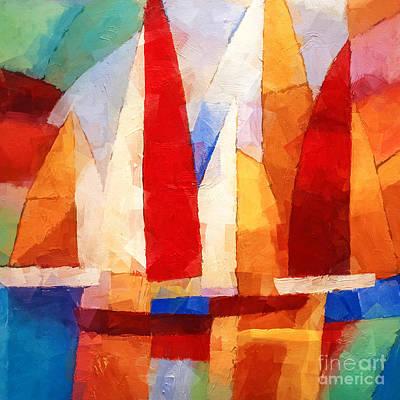 Navigation Mixed Media - Cubic Maritime by Lutz Baar