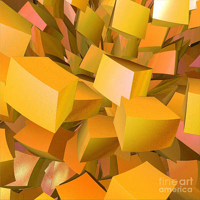 Cubist Melon Burst By Jammer Print by First Star Art