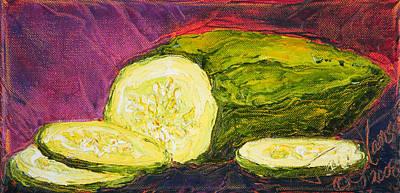 Cucumber Print by Paris Wyatt Llanso