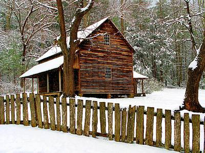 Log Cabin Photograph - Cuddled Up by Michael Eingle