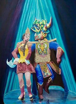 She-devil Painting - Cueca Diabolica by Dario Pinto