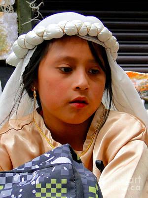 Earrings Photograph - Cuenca Kids 226 by Al Bourassa