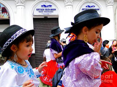 Earrings Photograph - Cuenca Kids 239 by Al Bourassa