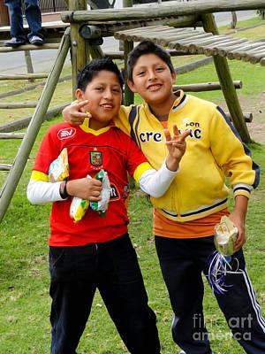 Brat Photograph - Cuenca Kids 271 by Al Bourassa