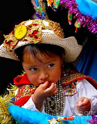 Earrings Photograph - Cuenca Kids 316 by Al Bourassa