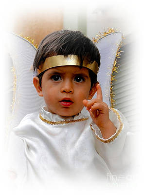 Smiling Jesus Photograph - Cuenca Kids 332 by Al Bourassa