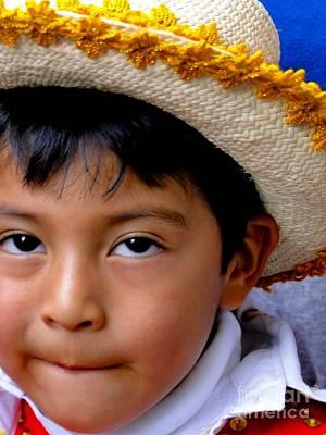 Caballero Photograph - Cuenca Kids 341 by Al Bourassa