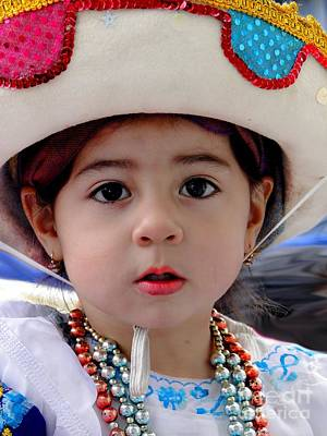 Earrings Photograph - Cuenca Kids 379 by Al Bourassa