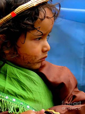 Smiling Jesus Photograph - Cuenca Kids 390 by Al Bourassa