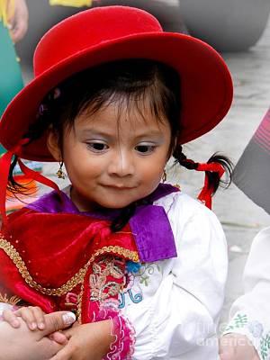 Smiling Jesus Photograph - Cuenca Kids 403 by Al Bourassa