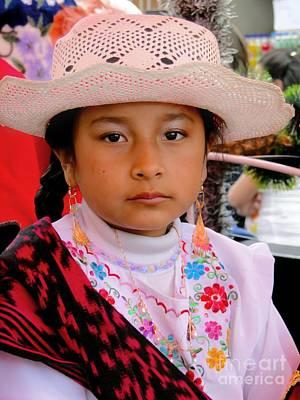 Earrings Photograph - Cuenca Kids 414 by Al Bourassa