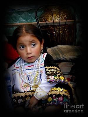 Earrings Photograph - Cuenca Kids 431 by Al Bourassa