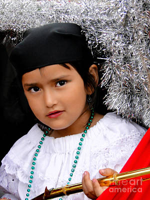 Smiling Jesus Photograph - Cuenca Kids 438 by Al Bourassa