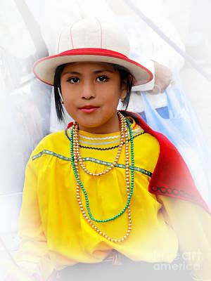 Earrings Photograph - Cuenca Kids 441 by Al Bourassa