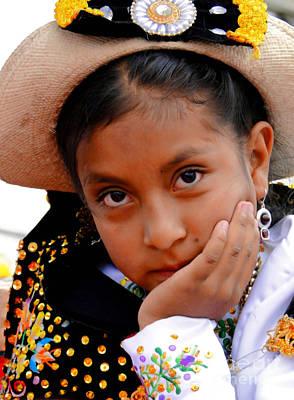 Earrings Photograph - Cuenca Kids 460 by Al Bourassa