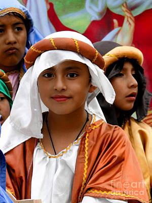 Smiling Jesus Photograph - Cuenca Kids 464 by Al Bourassa