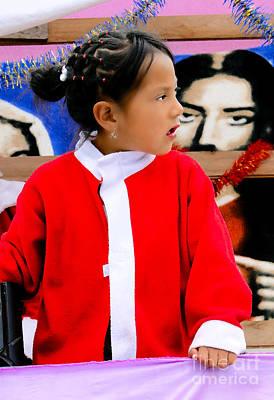 Earrings Photograph - Cuenca Kids 486 Painting by Al Bourassa