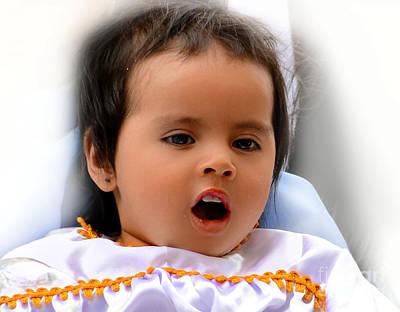 Smiling Jesus Photograph - Cuenca Kids 588 by Al Bourassa
