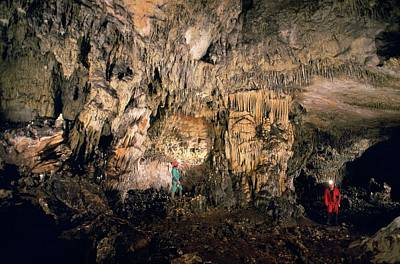 Cueva Mayor Cave Exploration Print by Javier Trueba/msf
