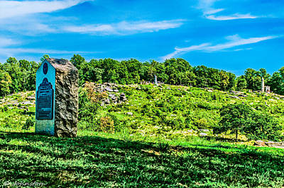 Culp's Hill And Cemetary Ridge Gettysburg Battleground Print by Bob and Nadine Johnston