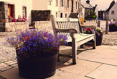 Window Bench Photograph - Culross Sketches 4. Scotland by Jenny Rainbow