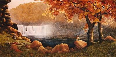 Blueridge Mountain Art Painting - Cumberland Falls by Duane R Probus