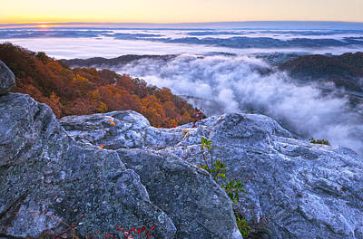 Cumberland Gap Sunrise Print by Christian Heeb