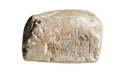 Artefact Photograph - Cuneiform Inscription by Photostock-israel