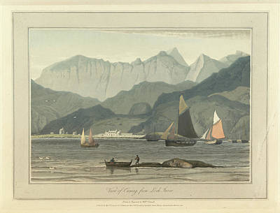 Cuniag From Loch Inver Print by British Library
