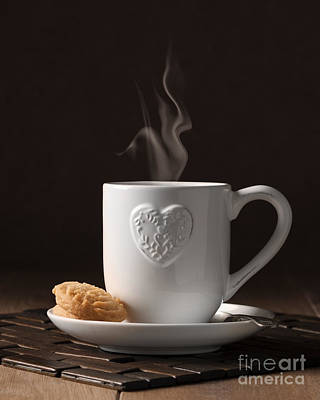 Cup Of Coffee Print by Amanda Elwell