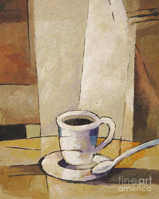 Coffee Painting - Cup Of Coffee by Lutz Baar
