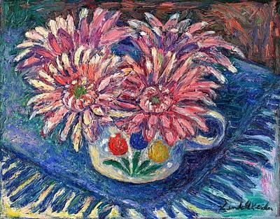 Cup Of Flowers Print by Kendall Kessler