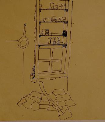 Fries Drawing - Cupboard by Erika Chamberlin