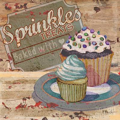 Treats Painting - Cupcake Baking Sign IIi by Paul Brent