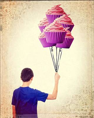 Cup Cakes Photograph - Cupcake Balloons by Edward Fielding