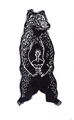Cupcake Bear Print by Coralette Damme