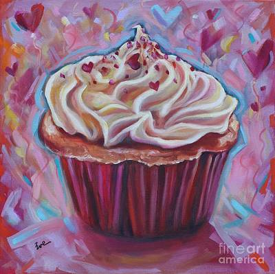 Cupcake Love Print by Eve  Wheeler