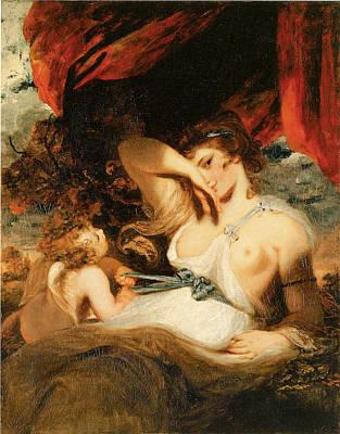 Cupid Untying The Zone Of Venus Print by Joshua Reynolds