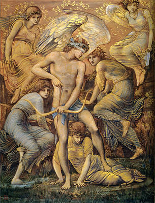 Cupids Hunting Fields Print by Edward Burne Jones