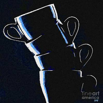 Poster Painting - Cups by Dragica  Micki Fortuna
